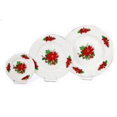 Εορταστική πρόταση για σας που τα Χριστούγεννα έχουν χρώμα κόκκινο-πράσινο-χρυσό. Το σετ αποτελείται από 6 ρηχά πιάτα, 6 γλυκού και 1 πιατέλα στρογγυλή. Decorative Plates, Tableware, Home Decor, Dinnerware, Decoration Home, Room Decor, Dishes, Interior Design, Home Interiors