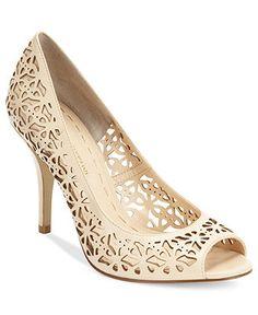 Need nude bridesmaid shoes! Enzo Angiolini Shoes, Megastar Mid Heel Pumps - Pumps - Shoes - Macy's