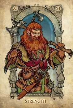 Lord of the Rings Tarot: Strength by ~SceithAilm on deviantART
