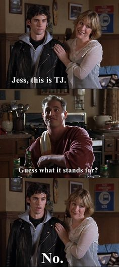 Liz: Jess, this is TJ.  TJ: Guess what it stands for.  Jess: No.