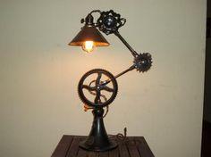 Vtg Industrial Desk Lamp