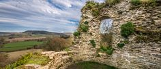 Wigmore Castle in Wigmore, Herefordshire, England.  William FitzOsbern, Mike's 29th great grandfather build this castle about 1070 under the direction of William the Conqueror.