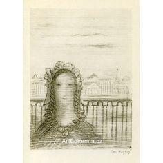 Děvče na břehu Něvy Illustration, Artist, Prints, Artists, Illustrations