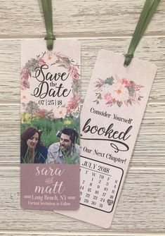 Customized Save The Date Bookmark, Save The Date, Bookmark Invitation, Bookmark Save The Date, Weddi is part of Wedding saving copy are property of WeddingBelle& - Save The Date Fonts, Save The Date Invitations, Save The Date Cards, Invites, Party Invitations, Save The Date Magnets, Unique Save The Dates, Wedding Save The Dates, Our Wedding