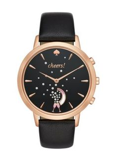 we like to think of this metro grand watch as a personal cheerleader: it links automatically to the kate spade new york connected app to provide bursts of motivation, celebrations with every success a