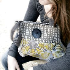 Buy Gray & White Handbag by cayennepeppy on OpenSky