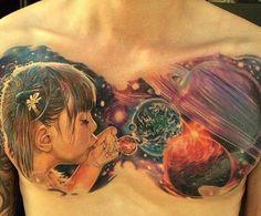 #space #tattoo #spacetattoo