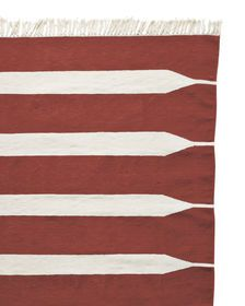 Paddle Stripe Cotton Dhurrie