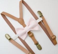 FABRIC SWATCHES available !   This bow tie is available with OTHER COLOR SUSPENDERS .   1/2 inch SKINNY Suspender size :  BABY SET (6 - 18 mo): - BOW TIE - 3.3 inches (8.5 cm )  pre-tied and made with adjustable white strap and white plastic clasp.  - SUSPENDERS - fit boys 6 mo to 5 yrs old, adjustable from 16 to 27 . ( 38 cm - 68 cm ) Made of faux leather . Y- back. 1/2 inch SKINNY suspenders .brass clips ________________________________________________  BOY SET (18 mo - 5 yrs):  -...