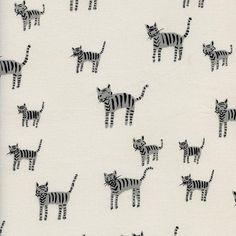 Black and White Tiger Stripes, Alexia Abegg, Cotton+Steel, RJR Fabrics, 100% Cotton Fabric, 5025-1