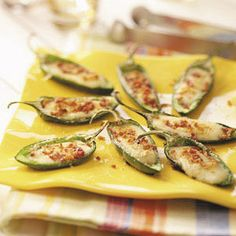 Grilled Cheese-Stuffed Jalapenos Recipe from Taste of Home -- shared by Bruce Hahne of Acworth, Georgia