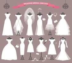 All of us want to look beautiful than ever at this special day. Of course you need to find your dream wedding dress Wedding Dress Shapes, Plain Wedding Dress, Fancy Wedding Dresses, Wedding Gowns With Sleeves, Wedding Dress Trends, Bridal Dresses, Dresses Dresses, Wedding Dress Illustrations, Wedding Dress Sketches