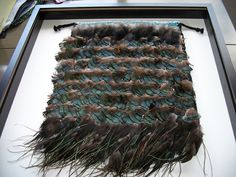 Handwoven Feather Korowai Wall Hanging by sharronmay on Etsy