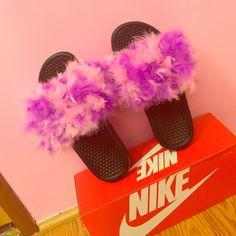 Nike Fur Slides Brand New !!! Nike Shoes Slippers