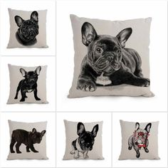 Aliexpress.com : Buy European Style Adorable Black French Bulldog Dog Series Throw Pillow Cushion For Home Decor Free Shipping Wholesale 45x45cm from Reliable cushioning insoles suppliers on Home Textile Mall