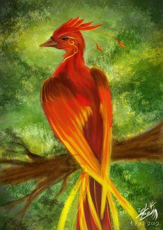 Firebird (Phoenix) by Chirpy-chi. Phoenix Painting, Phoenix Drawing, Phoenix Art, Firebird, Magical Creatures, Fantasy Creatures, Ibong Adarna, Phoenix Vector, Phoenix Images