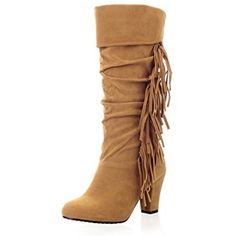 Girls Tassels Platform Pull-On Frosted Boots