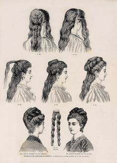 FlouncedLucia Trendfrisuren Joe, akkurater Mittelscheitel oder People from france Cut Cease to live Frisurentrends Historical Hairstyles, Edwardian Hairstyles, Vintage Hairstyles, 1800s Hairstyles, School Hairstyles, Prom Hairstyles, Pelo Vintage, Vintage Bangs, Curly Bangs