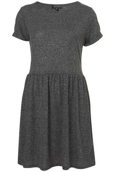 Speckle Roll Sleeve Mini Dress - T-Shirt Dresses - Dresses - Clothing - Topshop