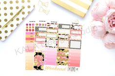 Happy Planner Peony Weekly Kit Planner Stickers