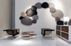 STUA's Satellite acoustic panels in bedroom. Design jon Gasca.