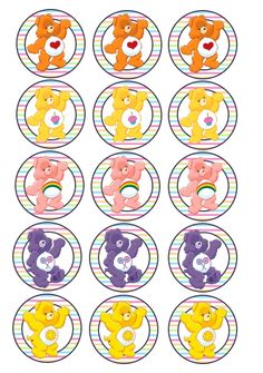 Care Bear Belly Badges Care Bears