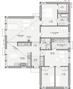 Villa Plan, House Drawing, Sims House, House Layouts, House Floor Plans, Home Decor Items, Future House, Planer, Home Goods