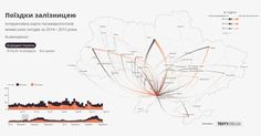 Travel By Rail is an interactive map and data visualization tool of intercity rail journeys in Ukraine _ by texty.org.ua