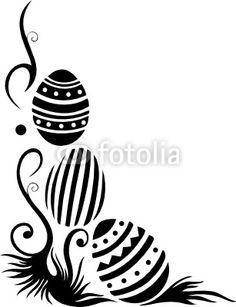 Ostern, Ostereier, Ei, Eier, Schnörkel, Wiese, Gras