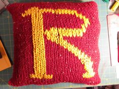Harry Potter themed Mrs. Weasley sweater pillow