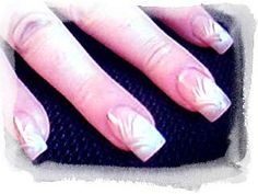 solar nail art | Pretty white nail design for medium nails covers most of the nail