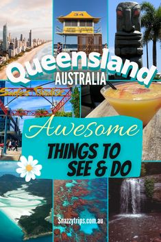 Why You Should Visit Queensland - awesome things to see and do in the Sunshine state. Great Barrier Reef, Daintree Forest, Brisbane, Surfers Paradise, Whitsunday islands, Fraser Island, Moreton Bay, Cairns and heaps more. #queenslandaustralia #queenslandtravel #australiatravel #greatbarrierreef #daintree #cairns #snazzytrips Queensland Australia, Australia Travel, Whitewater World, Travel Usa, Travel Tips, Travel Ideas, Travel Destinations, Bundaberg Rum, Lone Pine Koala Sanctuary