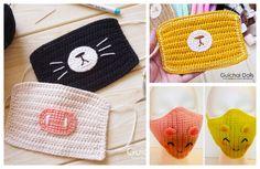 Fun Animal Face Mask Free Crochet Patterns + Video Crochet Mask, Crochet Faces, Crochet Patterns Amigurumi, Crochet Animals, Animal Face Mask, Animal Faces, Crochet For Boys, Cute Crochet, Crochet Braid Styles