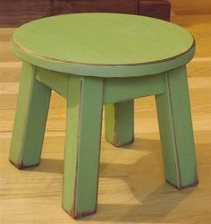 Reclaimed wood/ Primitive/ round stool/ by EastabrooksTreeWorks