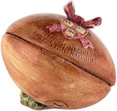 1890s Harvard Majolica Football Humidor. $396