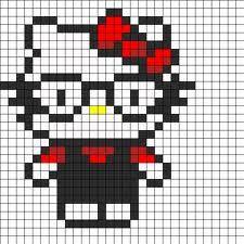 hello kitty glasses /  Perler Beads - Hama perlen - Bügelperlen
