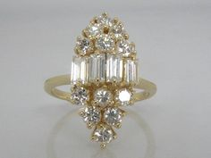 Diamond Baguette and Round Brilliant Cut by lonestarestates, $1250.