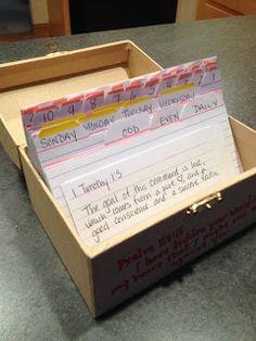 Scripture memorization box
