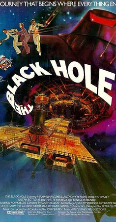 the black hole, movie poster Classic Sci Fi, Classic Movies, Sci Fi Movies, Action Movies, Movies 2019, Sf Movies, The Black Hole Movie, Holes Movie, 1980s