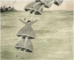 Image of floating lady