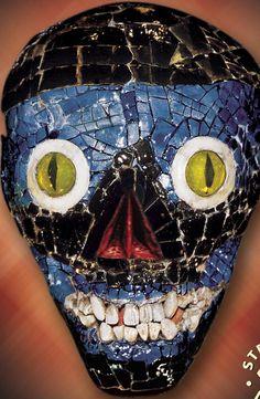 Aztec mask of Texlcatlipoca. with human teeth.