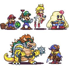 Super mario RPG characters by Omegachaino on DeviantArt Geno Super Mario Rpg, Super Mario Art, Mario And Luigi, Mario Bros, Super Princess Peach, King Koopa, Character Art, Character Design, Classic Video Games