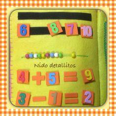 Quiet book, números Silent Book, Material Didático, Sensory Book, Felt Books, Toddler Books, Busy Book, Book Girl, Felt Art, Sewing For Kids