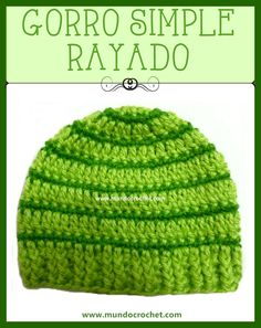 English version and charted pattern: Crochet striped hat for baby