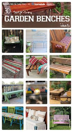 Stunning garden bench ideas for you right here!