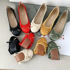 flat shoes women soft bottom egg roll shoes women casual peas shoes Toe Shape, Flat Shoes, Chanel Ballet Flats, Low Heels, Shoes Women, North America, Egg, Casual, Leather