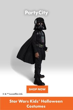 Shop now for all your kids Halloween costumes at Party City. Darth Vader Costumes, Star Wars Kids, Halloween Costumes For Kids, Shop Now, Stars, Classic, Fun, Fictional Characters, Shopping