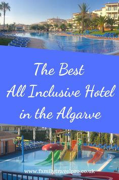 Find out about one of the best all inclusive hotels in the Algarve, Portugal. Near Albufeira and Vilamoura. Best all inclusive family resorts Portugal. Save money on family holidays. Algarve, Travel Pro, Travel Europe, Travel Tips, Sunshine Holidays, All Inclusive Family Resorts, Portugal Holidays, Family Travel, Group Travel