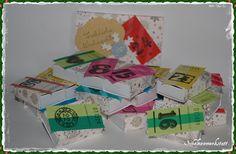 Tine von der Schelmenwerkstatt hat uns ihren Adevntskalender geschickt.  Ihre Streichholzschachtel-Version gefällt uns top. Und wer keine Zeit zum Basteln hat, kann das Original im DaWanda-Shop der Schelmenwerkstatt kaufen.    Aber nur solange der Vorrat reicht ;-)