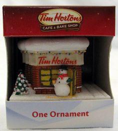 Tim Hortons Coffee Cafe STORE Christmas Tree Ornament Horton's NEW for 2012 | eBay